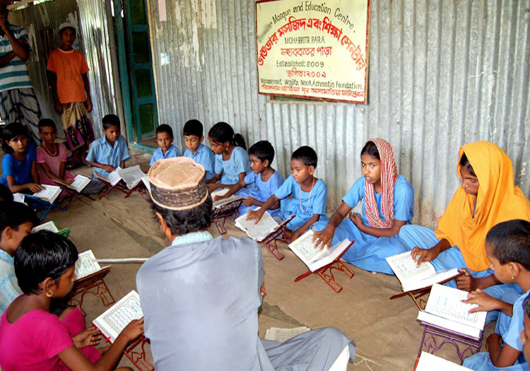Orphans Studying